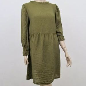 Anthropologie Lacausa Parkington Dress Green Sz M